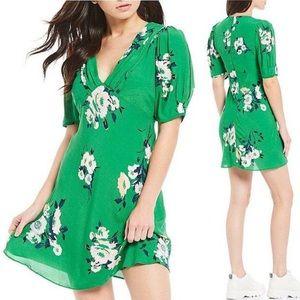 Free People Neon Garden Green Mini Dress Tunic